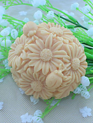 Christmas Flower Ball Dessert Decorator Soap Mold  Fondant Cake Chocolate Silicone Mold, Decoration Tools Bakeware