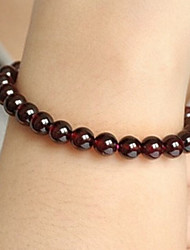 Natural Crystal Wine Red Garnet Single Ring Bracelet Female Beauty Lucky For Valentine's Day Gift 0.5*0.5