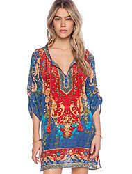 VOV     Women's Dresses , Cotton Sexy/Beach/Casual/Print VOV