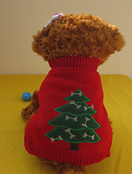 Dog Sweaters - XS / S / M / L - Winter - Red - Christmas - Mixed Material