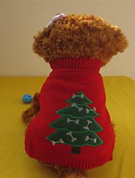 Hunde - Winter - Fasergemisch - Weihnachten - Rot - Pullover - XS / S / M / L