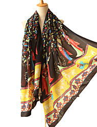 Women's large size national long scarf