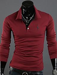 Informeel Shirt Kraag - MEN - Vrijetijds shirts ( Acryl / Organisch Katoen )met Lange Mouw