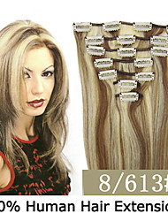 3 set 15 inch 7pcs / set 70g clip-in hair remy indian human hair extensions