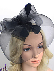 Women Net Western Style Birdcage Veils With Wedding/Party Headpiece(More Colors)