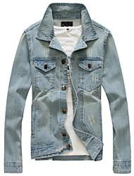2015 men and men's denim jacket denim jacket slim jeans denim jacket retro tide type