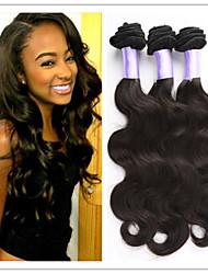 "3Pcs/Lot Hot 8""-34"" #1B Brazilian Virgin Hair Extensions Body Wave Human Hair Weft Weave Wholesale"
