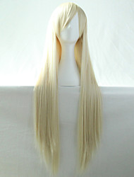 New Anime Cosplay Bleach Blonde Long Straight Hair Wig 80CM