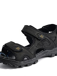 Men's Shoes Outdoor/Athletic/Casual Leather Sandals Black