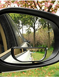 8cm x 3cm (L*W) Black Plastic Frame Rearview Blind Spot Wide Mirror for Car Mirror 2 Pcs/lot