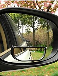 8 centimetri x 3cm (l * w) in plastica nera telaio retrovisore cieco specchio ampio posto per auto specchio 2 pc /