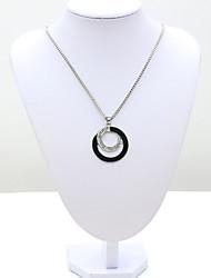 Femme Pendentif de collier Cristal Strass Imitation de diamant 18K or Autriche Crystal Mode Européen Bijoux Pour