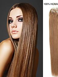20-Zoll remy Mikroring / Schleifenhaar 0,5 g / s Echthaar Haarverlängerungen 14 Farben für Frauen Schönheit