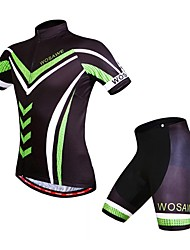 Men's Summer Bike MTB Cycling Quick Dry Jersey Breathable Shirt Shorts with Professional 4D Gel Padded Suit