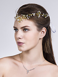 Women Imitation Pearl Head Chain With Imitation Pearl Wedding/Party Headpiece