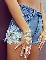 Women's Short Denim Pants Hole Short Jeans