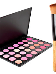 28 Colors Professional Beauty Makeup Cosmetic Blush Blusher Powder Palette+1PCS Blush Brush