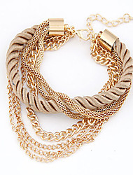 May Polly  Fashion low-key luxury woven multi all-match Bracelet