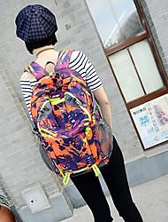 Unisex 's Nylon Backpack - Purple/Green/Brown