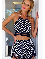 Women's Sexy/Casual/Party Straps Sleeveless Suits (Cotton)