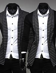 Men's Shirt Collar Casual Shirts , Acrylic / Organic Cotton / Rayon Long Sleeve Casual Fashion Winter / Fall rock