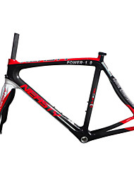 "RB-NT29+FK-NT28 Red White Neasty Logo 700C Full Carbon Fiber Frame and Fork 3K/12K  1-1/8""+1-1/2"" 48/50/52/56cm"