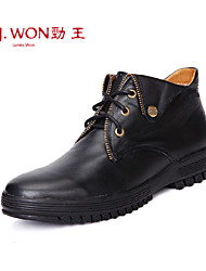 Men's Spring / Fall / Winter Pointed Toe / Open Toe / Fashion Boots Leather Outdoor / Office & Career / Casual Beading / Zipper / Lace-up
