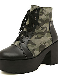 Women's Shoes Platform Platform Boots Casual Green