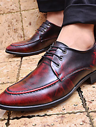 Men's Shoes Office & Career Leather Oxfords Black/Red/Gray