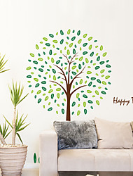 arbres heureuse style Stickers muraux autocollants de mur mur de pvc autocollants
