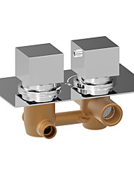 Inwall Brass Thermostatic Concealed Mixer Valve 2 Square Handles For Shower Head