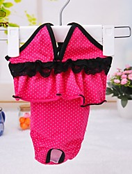 Dog / Cat Pants Rose Spring/Fall Polka Dots Wedding / Cosplay