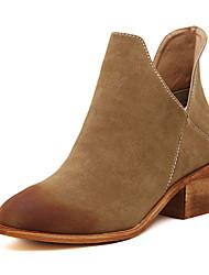 Vinda Women's Shoes Black/Khaki Chunky Heel 3-6cm Boots