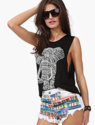 Women's Sexy Beach Casual Elephant Print Vest Tank Top