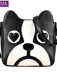 AIKEWEILI®Women's Handbag Fashion Cute Mini Cartoon Dog Style Shoulder Bag Korean Casual Cross Body Bag