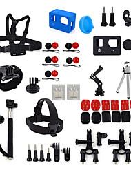 ourspop kit gp-k10-43-em uma acessórios para GoPro Hero 4 hero3 + câmera hero3