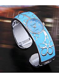 Mulheres Relógio de Moda Quartzo Banda Bracelete Azul