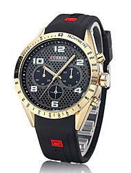 Curren Men's Watch Number and Strips Marks with Round Dial  Watchband