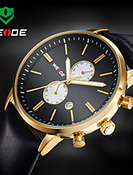 WEIDE® Men Luxury  Design Dress  Watch Quartz Analog Leather Strap Wrist Watch Cool Watch Unique Watch