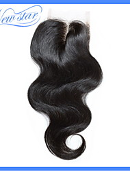 No Chemical Smell 6a New Star Brazilian Remy Virgin Human Hair Body Wave Top Lace Closure 4*4 Middle Part