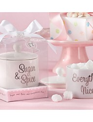 Sugar, Spice and Everything Nice Ceramic Sugar Bowl Favor