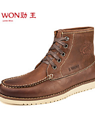Men's Shoes Outdoor/Office & Career/Casual Leather Boots Brown/Khaki
