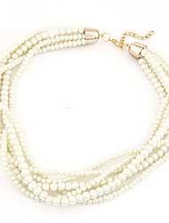 European Style Fashion Elegant Wild Multilayer Imitation Pearl Necklace