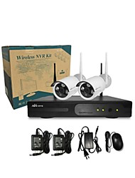 Ann®2 CH H.264 Home Security System DVR Kit (4 pc IR-cut Outdoor Waterproof Camera, HDMI, USB  Wifi)