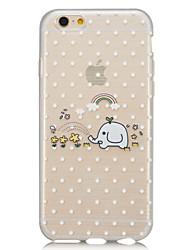 branco pequeno feliz como semi-transparentes casos de telefone fino desenho iphone6plus shell de borracha macia apoio material