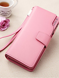 Women's Wallets Leather Purses  Wallets Wrist  Clutch Purse Cowhide Bi-fold Clutch Card & ID Holder
