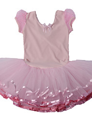 Ballet Dresses Children's Performance Spandex / Polyester Bow(s) / Cascading Ruffle / Lace 1 Piece Pink