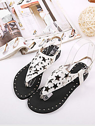 Women's Shoes  Flat Heel Comfort Sandals Casual Black/White