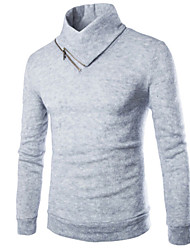 Men's Casual Pure Long Sleeve Regular Pullover