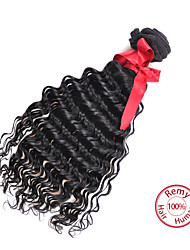 EVET Brazilian Hair Weave Bundles Vingin Hair Loose Wave Extensions 6A Human Hair Products 1pc Natural Black